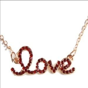 """Love Necklace Gold plated 16"""""""